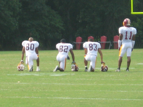 Wide receivers in a quieter moment.