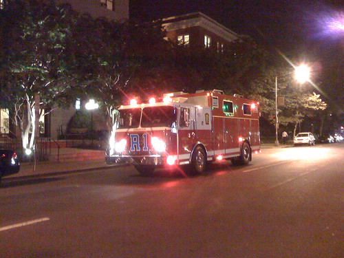 Rescue 1 of the DCFD on 17th Street NW in Washington DC - Taken With An iPhone