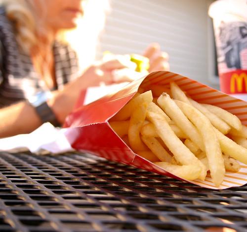 I like McDonald's [fries] and I cannot [lie]