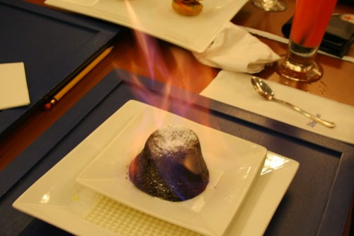Flaming Dessert