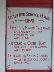 Little Red School House Plaque