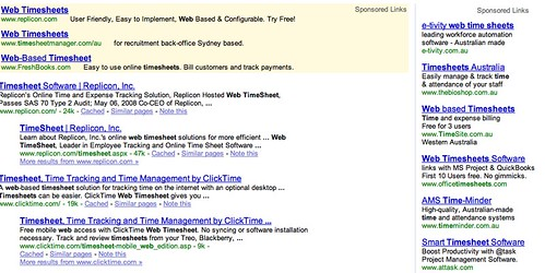 google search for timesheets