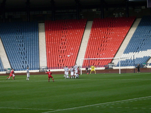 Stirling Fire a Free-Kick Over the Bar
