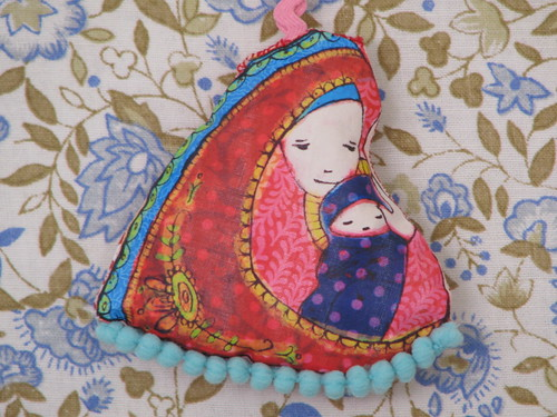 Little Madonna and Child Christmas Ornament