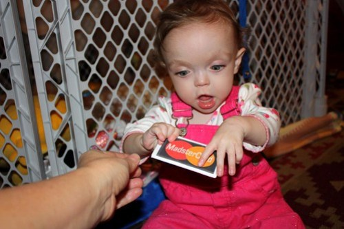 Here's your very own credit card, Maddie!