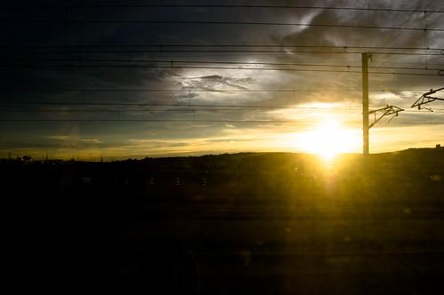Sunset on the HSR