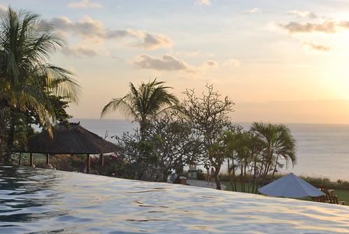 Sunset over the Ritz Carlton Main Pool