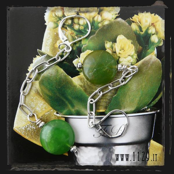 Orecchini verdi - Green earrings LECRISO
