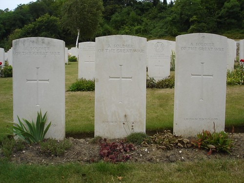 Vendresse war cemetary was full of unmarked graves