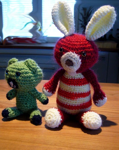 Jackrabbit and little teddy bear