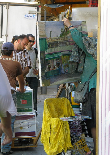 Plein Air Painter near the shuk