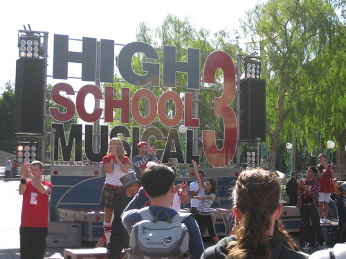We passed the High School Musical 3 show on the way out, where we were told that Senior Year is the defining moment of our lives by some very perky teenagers.