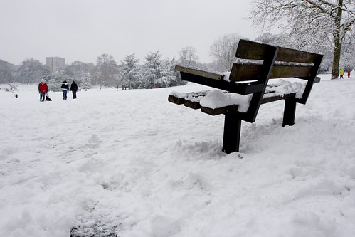 Wells Park in snow
