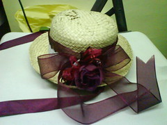 Straw hat decoration attempt #2