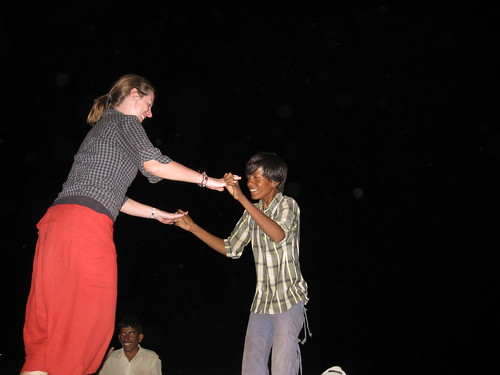 emma dances with a camel herder