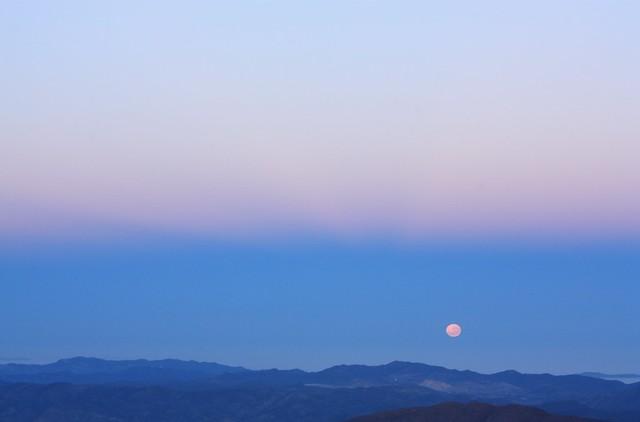 Moonset, Andacollo, Gemini South, Cerro Pachon, Chile