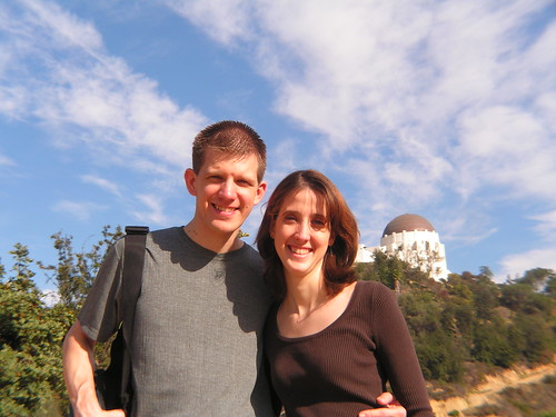 Wife & I by the Griffith Observatory