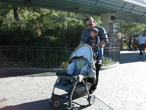 Emmett insisted on pushing his stroller EVERYWHERE.