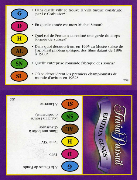 Trivial Poursuit Genius Switzerland