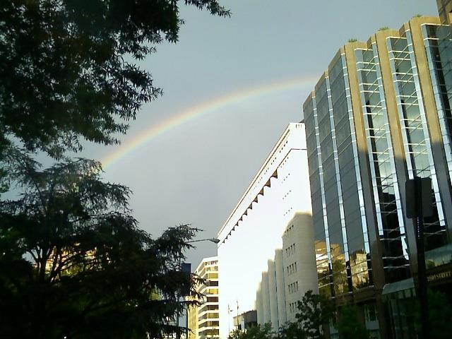 Rainbow over I street