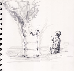 rabbit in a barrel