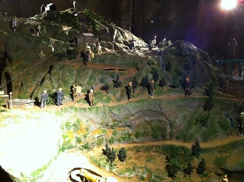 炭坑の模型