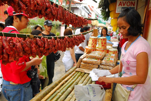 Philippinen  菲律宾  菲律賓  필리핀(공화�) Pinoy Filipino Pilipino Buhay  people pictures photos life Lucban, Quezon longganisa market, meat, Philippines, rural, vendor, woman