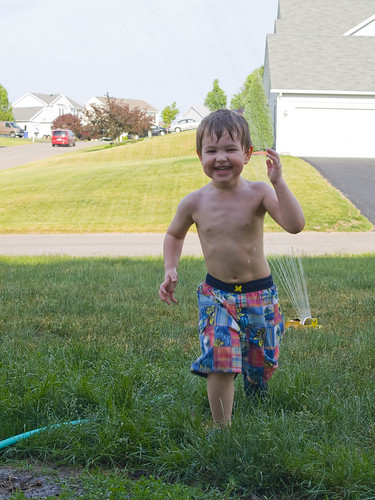 Nick and the Sprinkler
