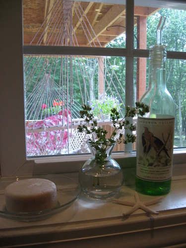 dish soap in wine bottle