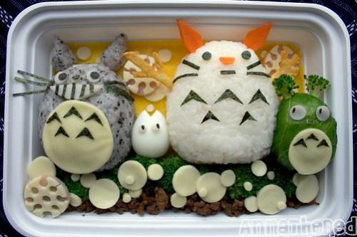 Totoro Snowman Bento!