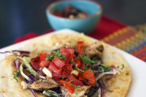 Chipotle Lime Chicken Tostada