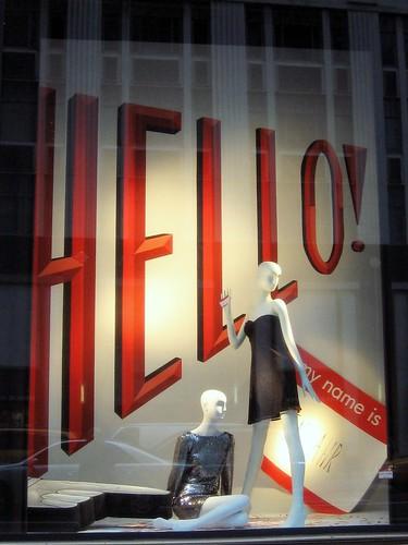 My Name Is...Bergdorf Goodman Window Display