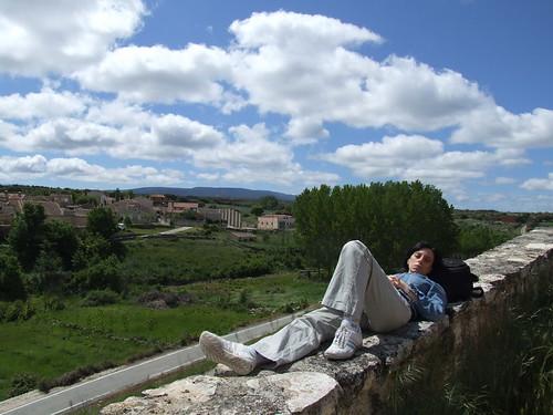 Mónica de relax. Foto Pedro Merino