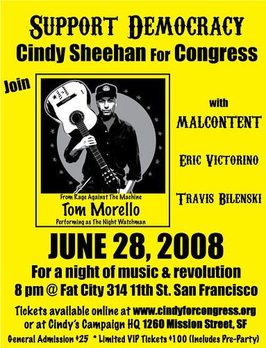 Cindy Sheehan show flyer