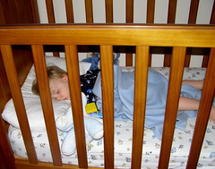 Sam's last night in his cot