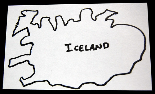 sketch of iceland