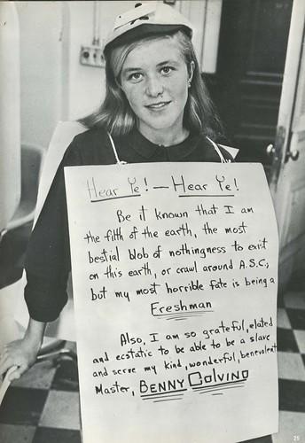 Freshmen Hazing. Adelphi Suffolk College 1967 Yearbook, p. 25