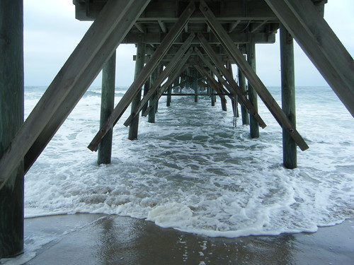 Under the pier, Topsail, NC.