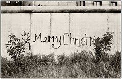 MERRY CHRISTMAS - BERLINER MAUER 1980