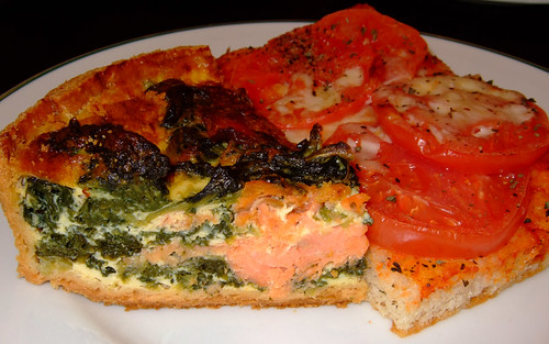 Salmon Quiche and Tomato Focaccio