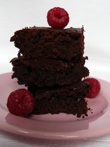 Fudgy Wudgy Raspberry Brownies