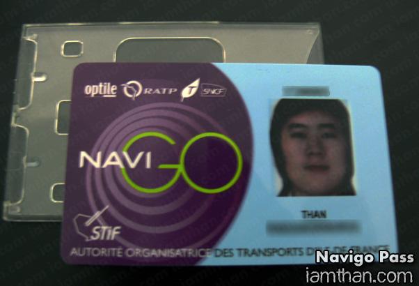 Passe Navigo ตั๋วแบบลงทะเบียน