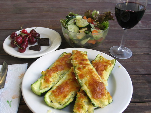 Zucchini boats by Ned Raggett, on Flickr