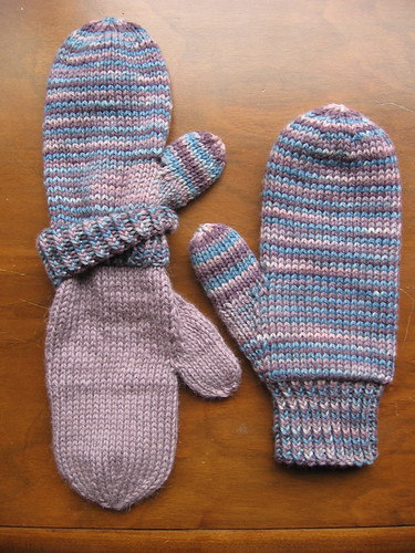 finished lined mittens