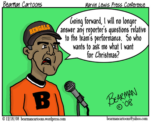 12 18 08 Bearman Cartoon Cincinnati Bengals Marvin Lewis