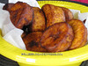 Freshly cooked plantains