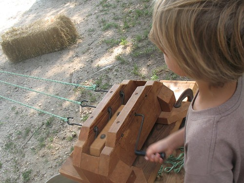 day on the farm...rope making by you.