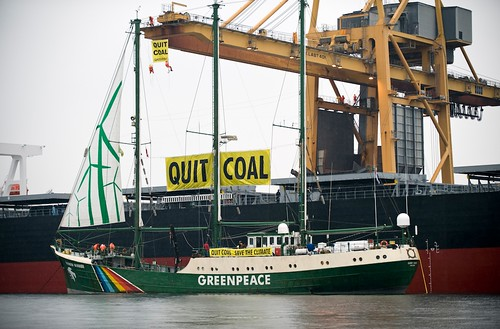 Rainbow Warrior action in Denmark by ecotist.