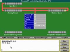 RCOS CPU Scheduling screen