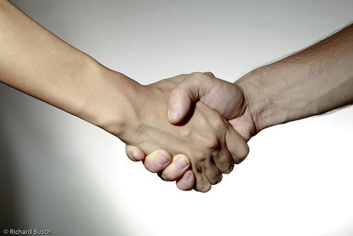 Photo of a solid handshake